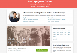 Screenshot of Heritage Quest