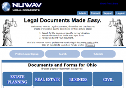 Screenshot of NuWav Legal Documents