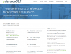 Screenshot of Reference USA
