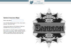 Screenshot of Sanborn Fire Insurance Maps