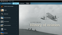Screenshot of World Book Timeline